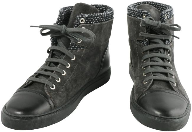 Item - Gray Suede and Tweed High Top Sneakers Boots/Booties Size EU 41 (Approx. US 11) Regular (M, B)