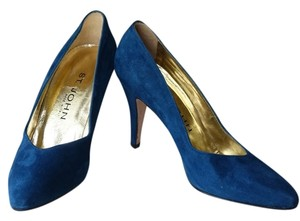 St. John Suede Blue Pumps