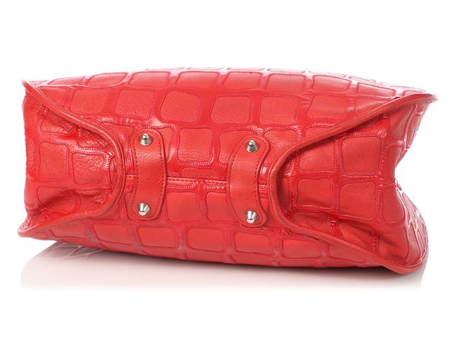 Dior 61 Embossed Red Patent Leather Hobo Bag Dior 61 Embossed Red Patent Leather Hobo Bag Image 6