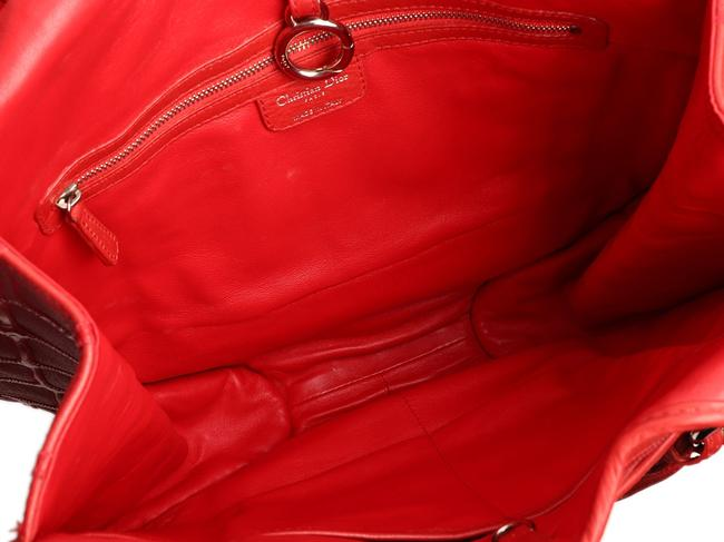 Dior 61 Embossed Red Patent Leather Hobo Bag Dior 61 Embossed Red Patent Leather Hobo Bag Image 8