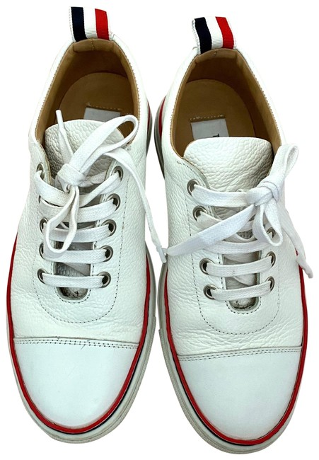 Item - White Tennis Collection Straight Toe Cap Trainer Sneakers Size EU 36 (Approx. US 6) Regular (M, B)