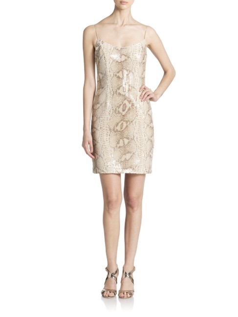 Item - Snake Skin Print Sequin Mid-length Night Out Dress Size 2 (XS)