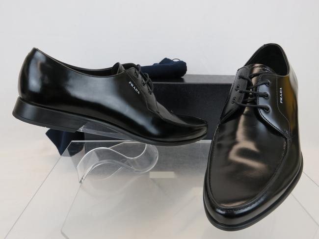 Item - Black 2ec124 Polished Leather Pointed Toe Lace Up Oxfords 12 Us 13 Shoes