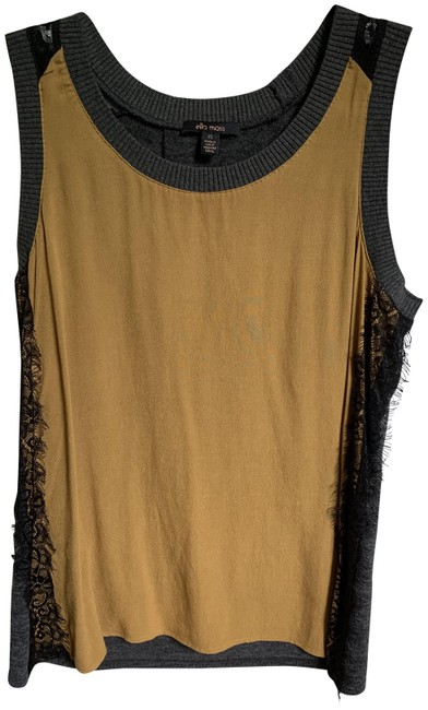 Item - Gold/Grey Front/Lace Trim On Sides/Grey On Back Of Tank Top/Cami Size 2 (XS)