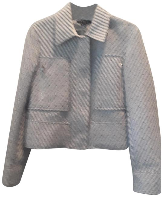Item - Blue/White Tweed Modele Blazer Size 4 (S)