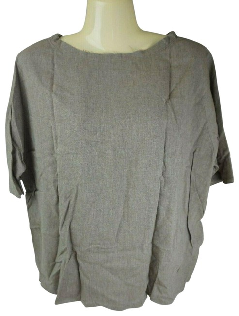 Item - Grey Raw Khaki Women's Blouse Size 6 (S)