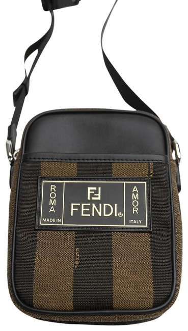 Item - Pequin Striped Brown Canvas and Leather Messenger Bag