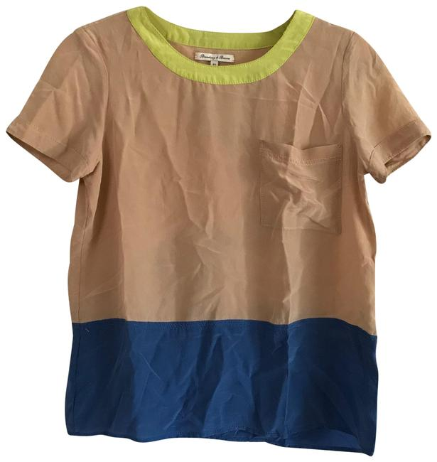 Item - Multicolor Madewell Colorblock Silk Blouse Size 2 (XS)