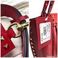 Valentino Rockstud Double Handle Hype Red Leather Tote Valentino Rockstud Double Handle Hype Red Leather Tote Image 9