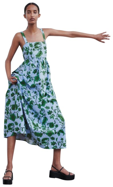Item - Multicolor XS W Floral Print W/ Pockets Blue/Green Color New. Long Casual Maxi Dress Size 2 (XS)