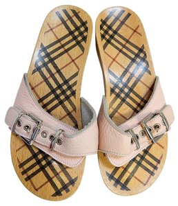 Burberry Leather Wood Nova Pink Flats