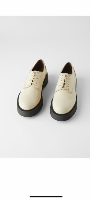 Item - Low Heeled Leather Derby Flats Size US 10 Regular (M, B)