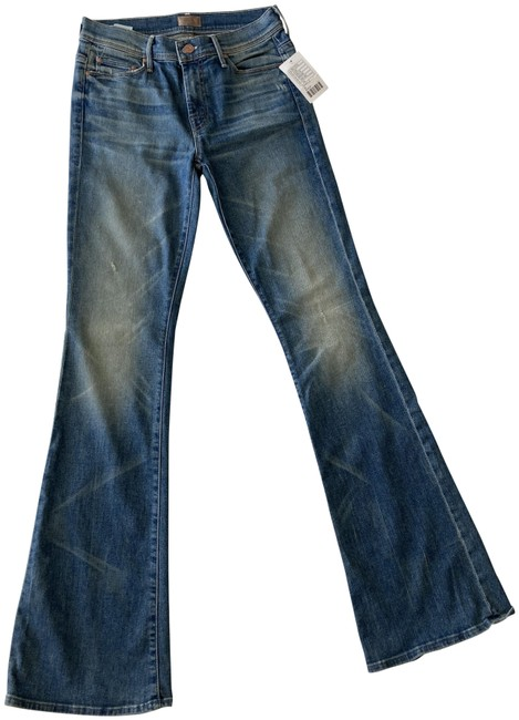 Item - Faded Blue Medium Wash The Cruiser In Lost & Found Flare Leg Jeans Size 28 (4, S)