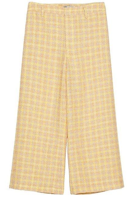 Item - Yellow XL W Tweed Culottes Trousers High Waisted W/ Pockets New. Pants Size 16 (XL, Plus 0x)