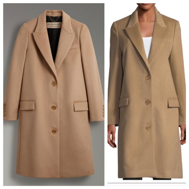 Item - Camel Brown Tan Tailord Cashmere Wool Coat Size 4 (S)