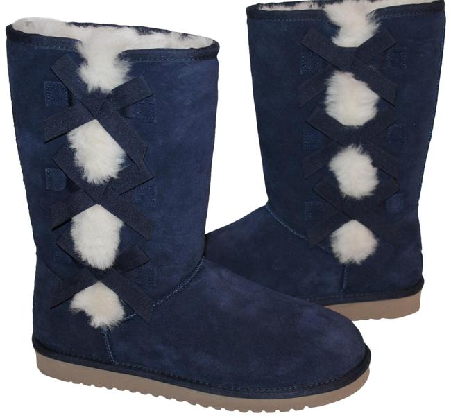 Item - Blue Koolaburra By Tall Suede Boots/Booties Size US 6 Regular (M, B)