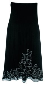 Raviya short dress Black & White Sleeveless Summer Strapless Embroidered on Tradesy