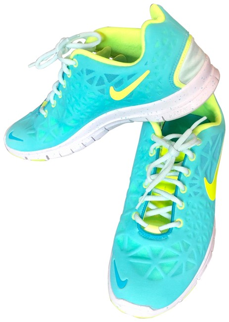 Item - Teal and Yellow Free 5.0 Sneakers Size US 11 Regular (M, B)