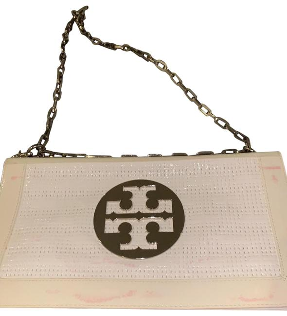 Item - Clutch Bombe Reva White and Cream Leather Shoulder Bag