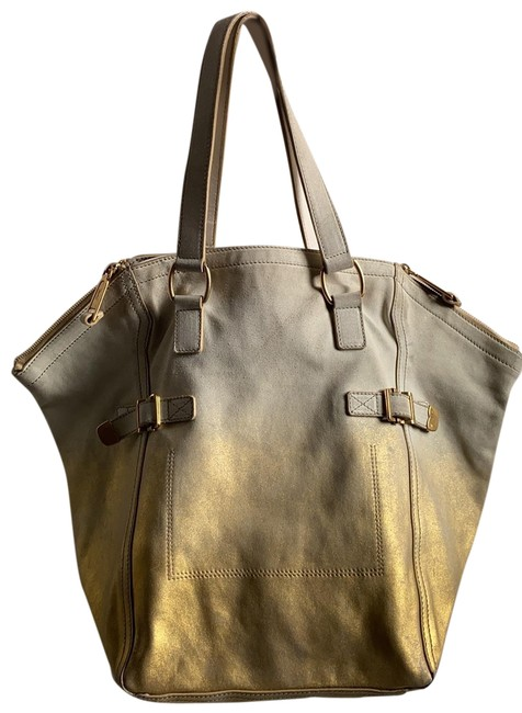 Item - Shoulder Downtown Ysl Gold and Cream Suede Leather Hobo Bag