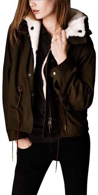 Item - Military Olive Women's Kingsby Hooded Shearing Lined Us8-it42 Jacket Size 8 (M)