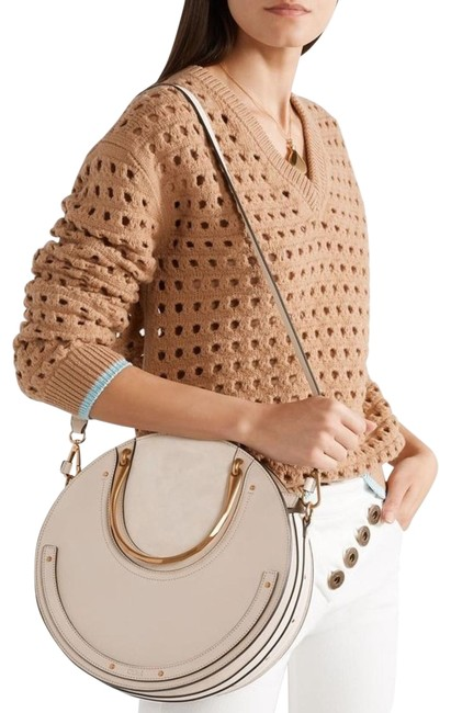 Item - Pixie Large Tote Abstract White Leather Shoulder Bag