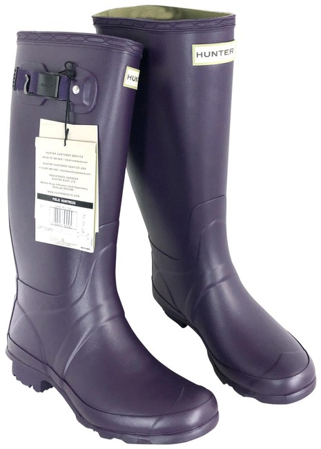 Item - Purple Pull- On with Buckle Boots/Booties Size US 8 Regular (M, B)
