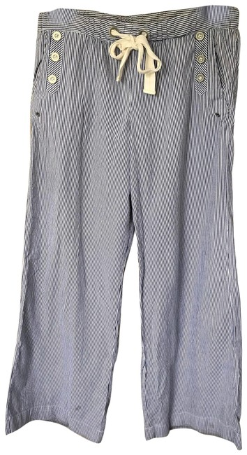 Item - Blue and White Anthro Saturday Sunday Striped Pants Size 8 (M, 29, 30)