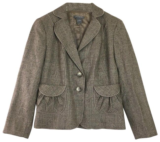 Item - Brown Tweed Ruched Pockets 2p Blazer Size Petite 2 (XS)