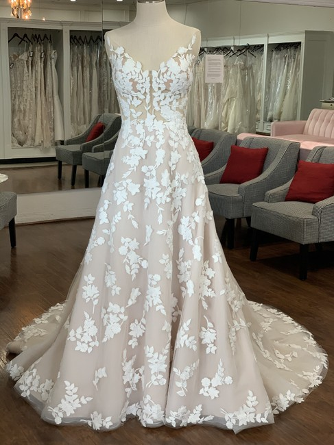Item - Ivory Sand Nude Lace & Tulle Marie Formal Wedding Dress Size 12 (L)