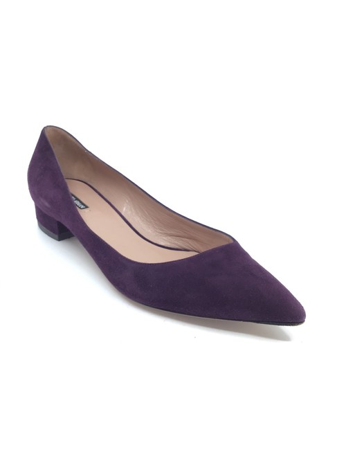 Item - Purple Suede Pointed Flats Size US 8 Regular (M, B)