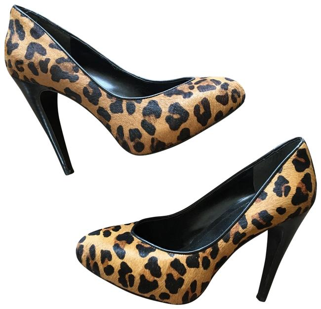 Item - Brown Calf Hair Leopard Cheetah Heels Platforms Size US 7 Regular (M, B)