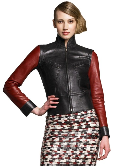 Item - Black and Red Red-sleeve Knit In Jacket Size 8 (M)