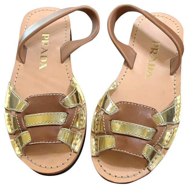 Item - Platino/ Brandy (Brown/Gold) Calzature Donna Sandals Size EU 37 (Approx. US 7) Narrow (Aa, N)