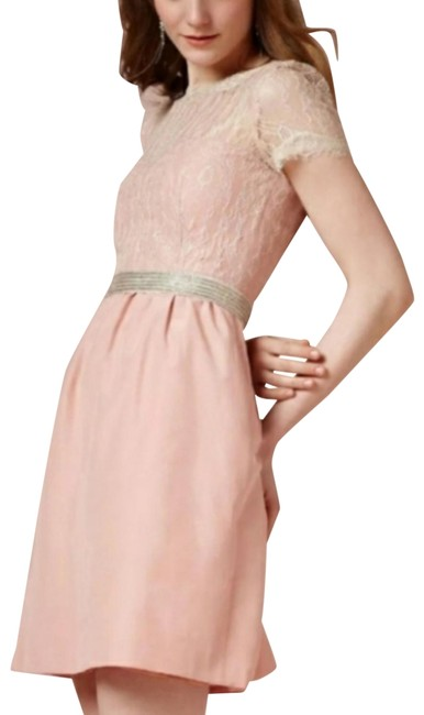 Item - Pink Ivory The Sorbeto By Mcginn Mid-length Formal Dress Size 14 (L)