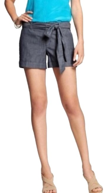 Item - Blue Martin Fit Chambray Denim Look Tie Front Shorts Size 12 (L, 32, 33)