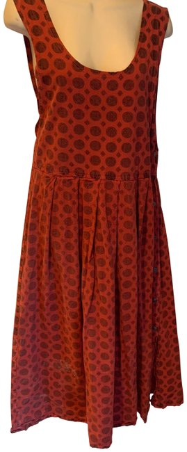 Item - Rust and Black Vintage Jumper Mid-length Casual Maxi Dress Size 8 (M)