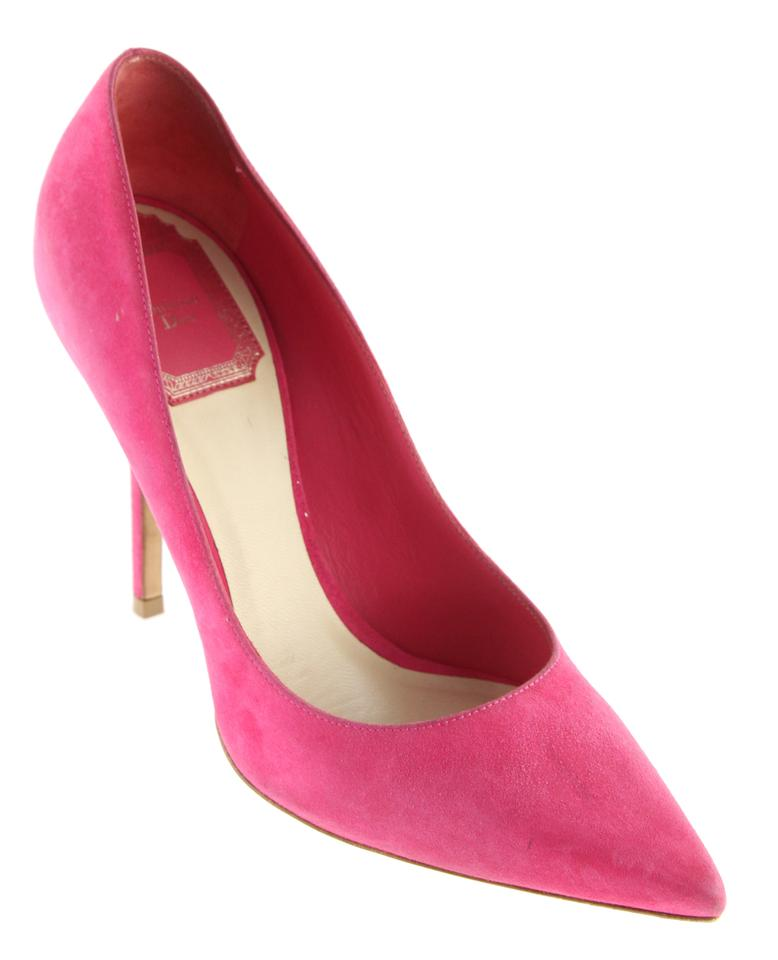 Dior Pink Suede Pointed Toe Pumps Pumps Toe b9a090