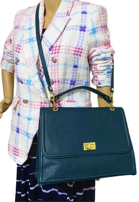 Item - Top Handle Made Italy Genuine Green Leather Shoulder Bag