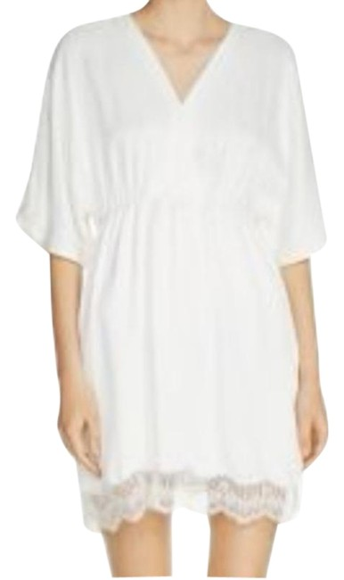 Item - Off White Raisio Lace Trim Short Casual Dress Size 8 (M)