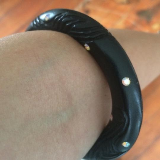 Indie Label Black wooden bracelet high arm
