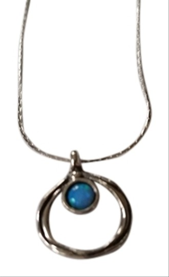 Shablool Silver Jewelry Design Sterling Silver and Australian Opel Necklace