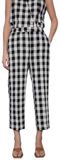 Item - Multicolor Check Plaid Tweed Trouser Leg High Waist Pockets New. Pants Size 8 (M, 29, 30)