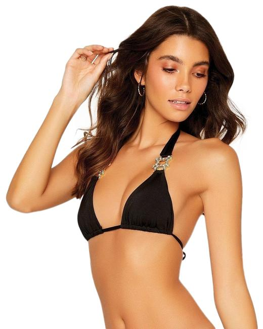 Item - Black Run The World Halter Separate Bikini Top Size 8 (M)