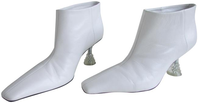 Item - White Facetted Crystal Heel Boots/Booties Size EU 37.5 (Approx. US 7.5) Regular (M, B)