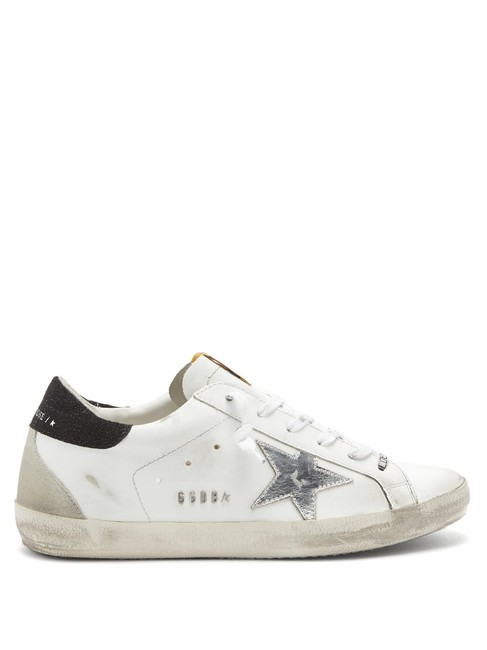 Item - White Mf Superstar Glitter-panelled Leather Trainers Sneakers Size EU 35 (Approx. US 5) Regular (M, B)