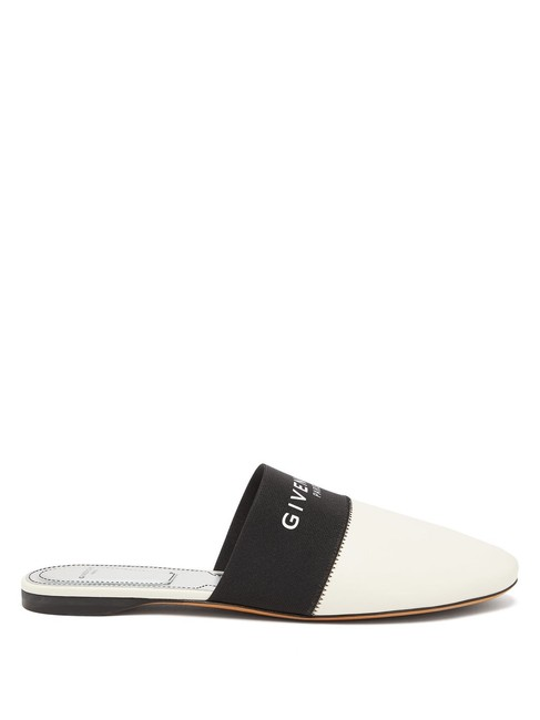 Item - Cream Bedford Mf Logo-trim Leather Mules/Slides Size EU 35.5 (Approx. US 5.5) Regular (M, B)