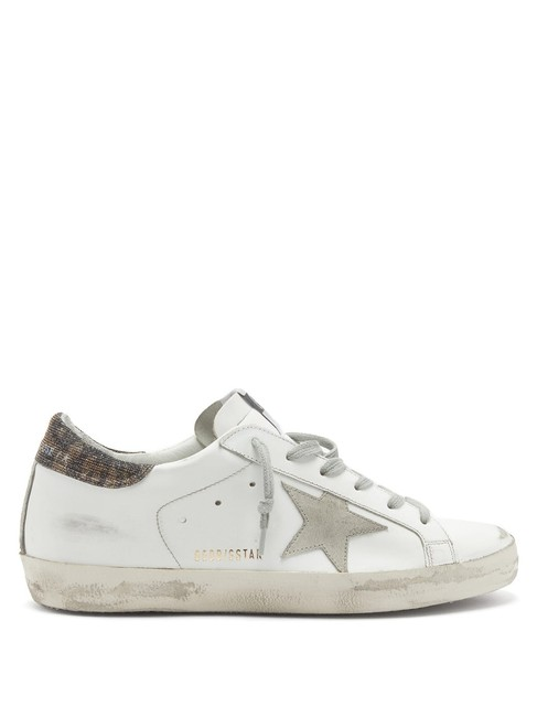 Item - White Mf Superstar Glitter-trimmed Leather Trainers Sneakers Size EU 37 (Approx. US 7) Regular (M, B)