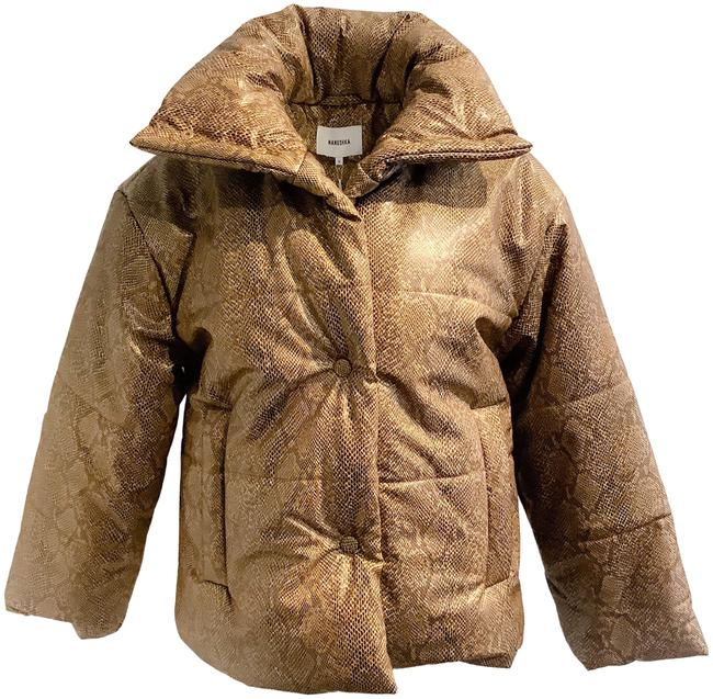 Item - Snake Print Puffer Brown Coat Size 4 (S)