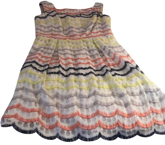 Item - Multi Colored Sheath Mid-length Cocktail Dress Size 4 (S)